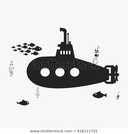 Retro podwodny statku pływać podwodne dzieci Zdjęcia stock © MaryValery