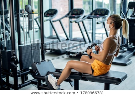 спортзал · фитнес · улыбаясь · пожилого · женщину · белый - Сток-фото © Kurhan