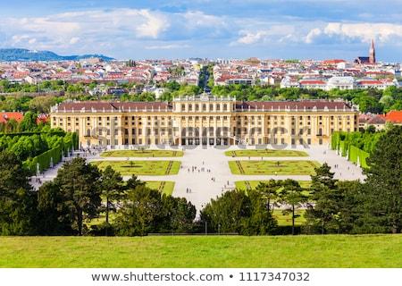 szobor · palota · kert · Bécs · Ausztria · város - stock fotó © vichie81