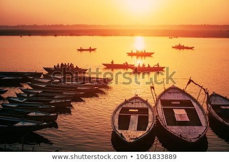 Sunrise at the Ganges River Stock photo © bbbar
