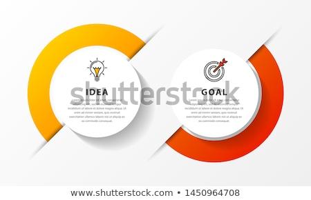Bağlantı infographics tasarım şablonu kâğıt soyut dünya Stok fotoğraf © sayver