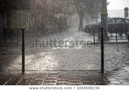 city in the rain stock photo © joyr
