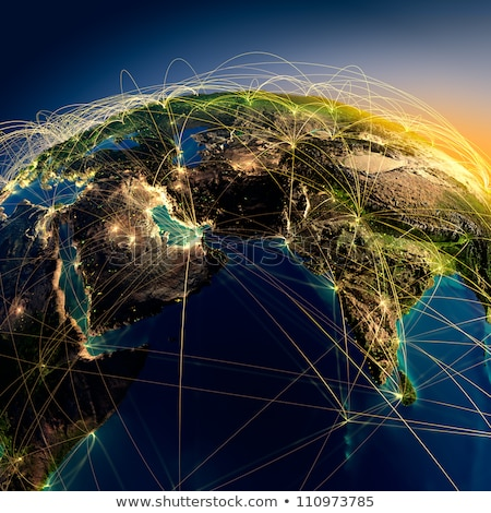 3D · wereldkaart · groene · textuur · wereld · technologie - stockfoto © idesign