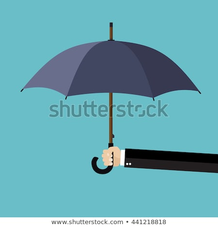 Empresário guarda-chuva cinza mão Foto stock © AndreyPopov