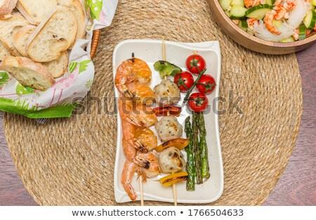 balık · top · salatalık · salata · plaka · dekoratif - stok fotoğraf © monkey_business
