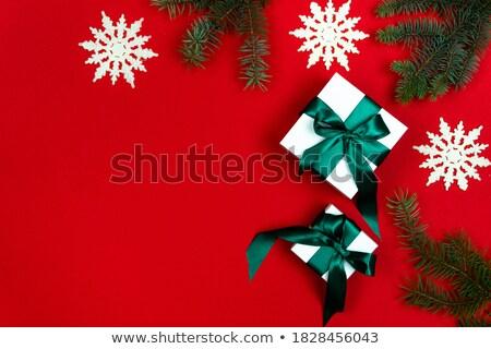 natal · quadro · pequeno · azul · flocos · de · neve - foto stock © swillskill
