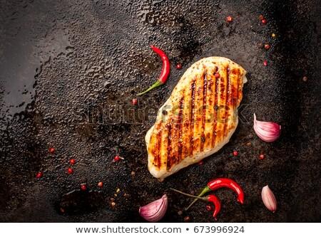 Gekruid kipfilet garnering filet raket Stockfoto © Digifoodstock