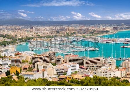 kikötő · kilátás · hegy · Mallorca · sziget · Spanyolország - stock fotó © xantana