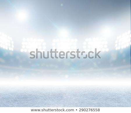 Hielo estadio atención congelado Foto stock © albund