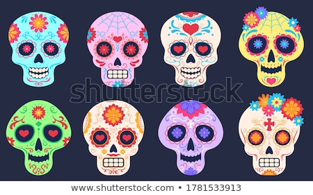 skull set vector stock photo © andrei_