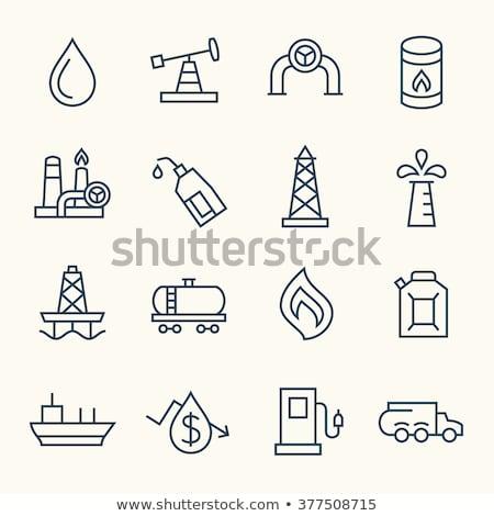 Petroleum barrel line icon. Stock photo © RAStudio