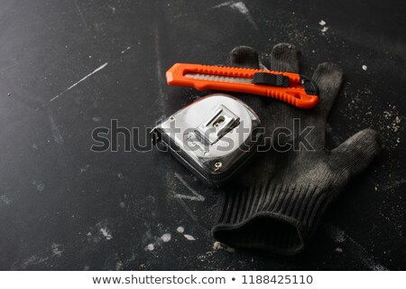 White ruler and Utility Knife Stock photo © devon