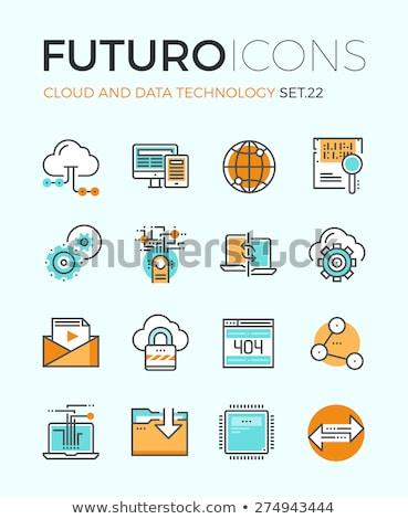 Globale integratie icon ontwerp business geïsoleerd Stockfoto © WaD