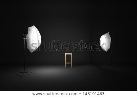 fa · színpad · reflektor · koncert · buli · zene - stock fotó © zerbor