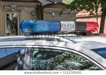 警察 車 実例 ユーロ ベクトル ストックフォト © derocz