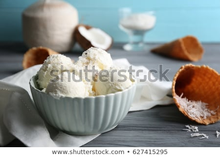 coconut ice cream Stock photo © M-studio
