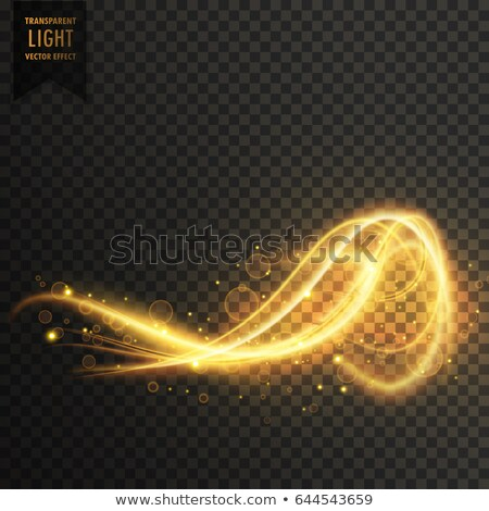 awesome abstract golden light transparent effect vector backgrou Stock photo © SArts
