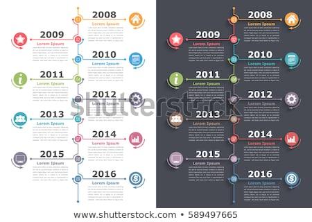 Vettore verticale infografica timeline relazione modello Foto d'archivio © orson