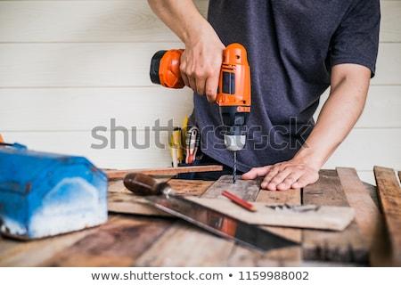 marangoz · matkap · delme · atölye · meslek - stok fotoğraf © stevanovicigor