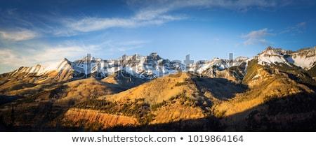 Természet ősz hegyek tájkép fenyőfa erdő Stock fotó © Leo_Edition