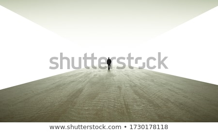 person at end of tunnel stock photo © adamr