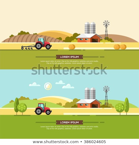 Stock fotó: Háló · szalag · farm · gazdák · vektor · stílus