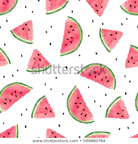 watercolor illustration of watermelon stock photo © mamziolzi