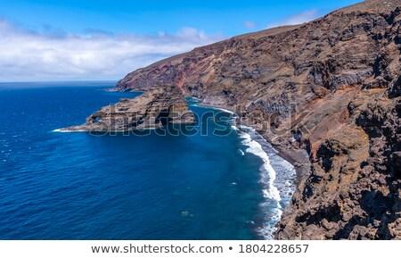 красивой · черный · пляжей · красочный · пород · вулканический - Сток-фото © Freesurf