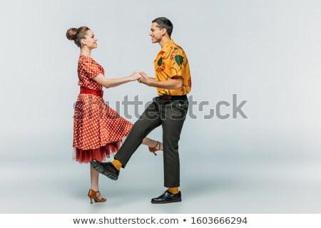 Zijaanzicht rock rollen paar gevoel ander Stockfoto © feedough