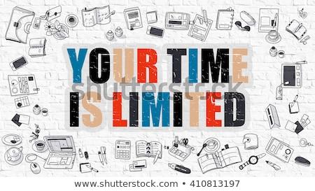Zorganizować pracy czasu biały murem Zdjęcia stock © tashatuvango