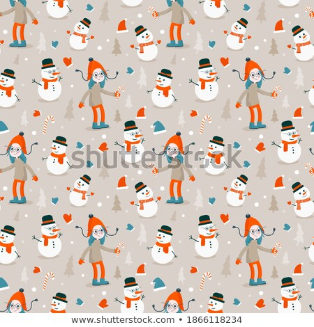 Vector Christmas illustration with magic tree and holiday elemen Stock photo © articular