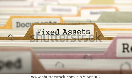 fixed assets concept on file label stock photo © tashatuvango