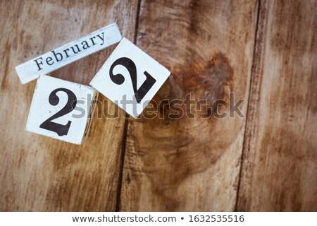 Kalender twintig tweede internationale dag Stockfoto © Oakozhan