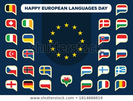 26 giorno lingue calendario biglietto d'auguri Foto d'archivio © Olena