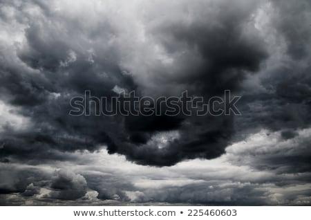 Dramatique orageux ciel sombre nuages pluie Photo stock © stevanovicigor
