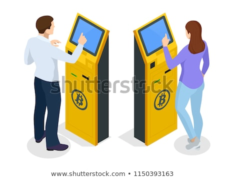 Bitcoin ATM. Crypto currency cash dispenser. Virtual money cash  Stock photo © MaryValery