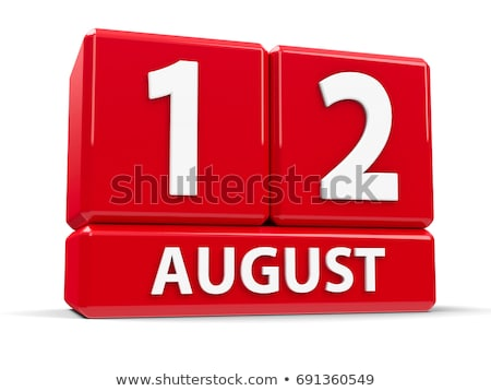 Agosto vermelho branco tabela internacional Foto stock © Oakozhan