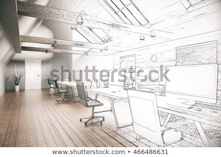 Iç koltuk dizayn fikirler ev tok Stok fotoğraf © ElaK