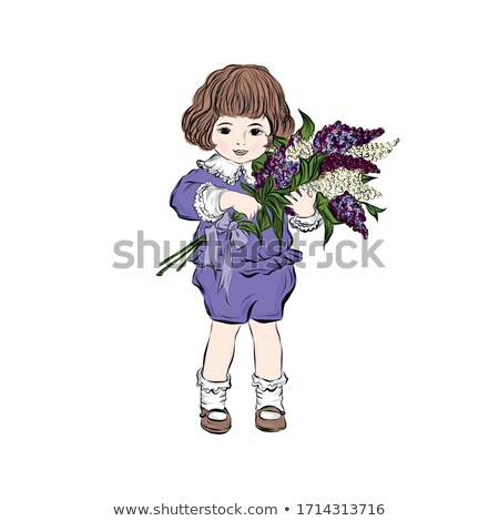 boy holding lilac blossom Stock photo © IS2