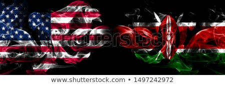 Football in flames with flag of kenya Stock photo © MikhailMishchenko