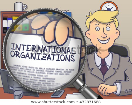 International Organizations through Lens. Doodle Concept. Stock photo © tashatuvango