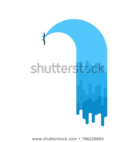 Water leak isolated. Sewerage is broken. Vector illustration Stock photo © MaryValery