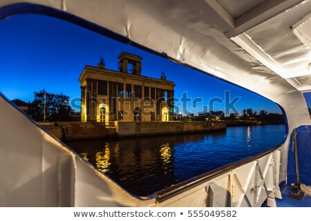 Gateway on Moscow Canal in night, Russia Stock photo © mahout