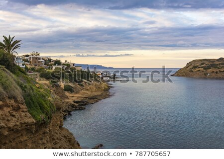 Panoramic view of traditional fishing village of Mochlos, Crete, Greece Stock photo © ankarb