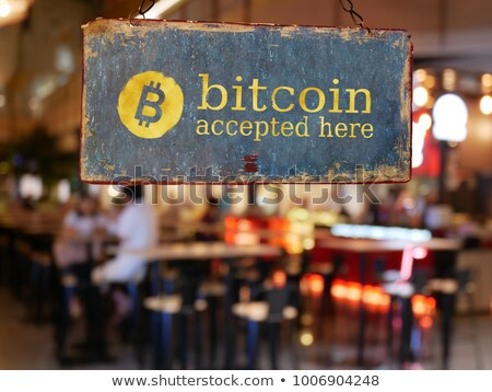 Bitcoin winkelen commerce winkel winkelwagen gouden Stockfoto © Lightsource