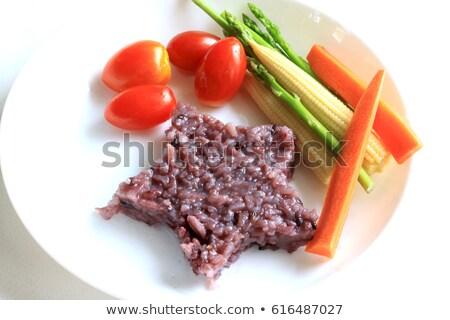 Wild rijst granen plaat geïsoleerd gezonde voeding Stockfoto © MaryValery