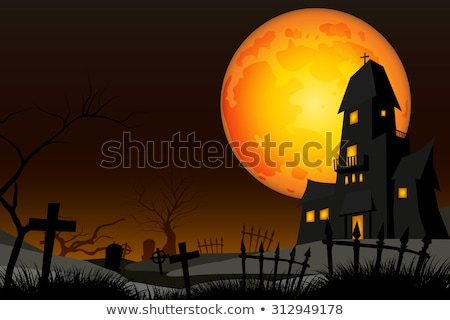 Background scene with scary night on fullmoon Stock photo © bluering
