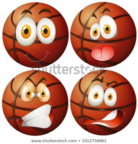 Négy különböző érzelmek illusztráció mosoly arc Stock fotó © bluering