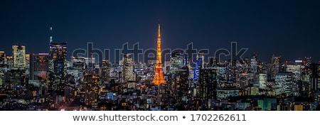 Tokio torre noche Japón nocturna de la ciudad negocios Foto stock © daboost