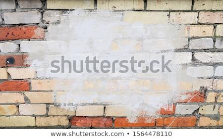 Vermelho verde reparar parede áspero trabalhos domésticos Foto stock © romvo